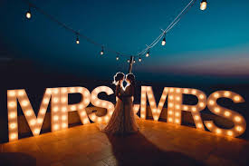 Mr And Mrs Light Up Sign Hire Light Up Your Wedding With Our Range Of Illuminated Props