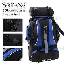 SOKANO 102 <b>60L</b> Large <b>Outdoor</b> Travel <b>Backpack</b> Camping <b>Sports</b> ...