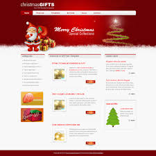 Free Christmas Website Templates Free Template 362 Gift Red