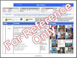 Work Instructions Examples Work Instruction Template