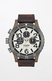 48 20 chrono leather watch