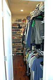 narrow deep coat closet ideas