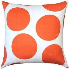 orange 22 linen orange circles throw pillow orange 222 orange 22