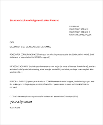 thank you note scholarship 9 application acknowledgement letter templates free premium
