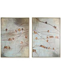 main image main image  on 2 pc canvas wall art with graham brown flock of birds 2 pc handpainted framed canvas wall