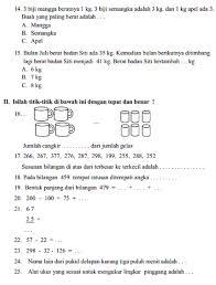 Berikut ini kami akan bagikan soal kelas 6 tema 1 subtema 1 dan kunci jawaban. Contoh Soal Uas Kelas 6 Sd Semester 2 Matematika Dan Kunci Jawaban Coretan Guru Cute766