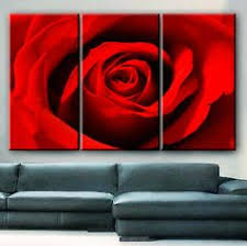 huge 3 panels framed 1 5 depth art canvas print red rose love flower floral nature wall home office decor interior 119 on red rose canvas wall art with 5 panel wall art romantic red rose picture for wall decor canvas