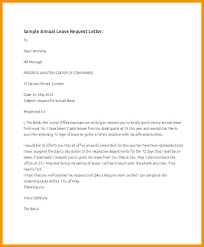Annual Vacation Request Email Sample Anexa Creancy Format Of Letter