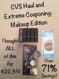 cvs haul and extreme couponing makeup edition