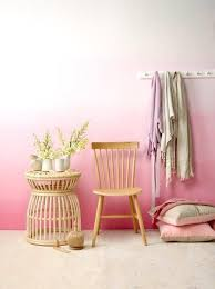 pink ombre wall using resene paints