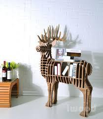 Diy Mdf Furniture Deer Puzzle Table Animal MultiPurpose Furniture MDF DIY Bookcase Diy Mdf