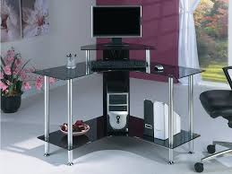 small glass table office. glass corner office desk best black computer designs bedroom ideas small table