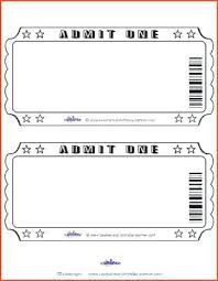 Admit One Ticket Template Free Extraordinary Free Printable Movie Ticket Template Colbroco