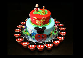 8 Mickeys Birthday Cakes For 3 Year Old Photo Mickey Mouse