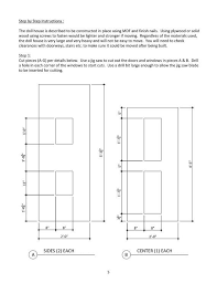 doll house furniture plans. doll house plans for american girl or 18 inch by addielillian furniture