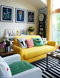 Yellow Living Room Decor Living Room Decorating Yellow Sofa For Small Living Room Design