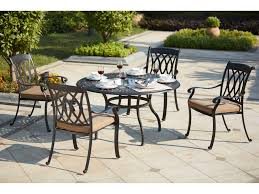 darlee outdoor living standard capri cast aluminum 5 piece dining set with 52 inch round