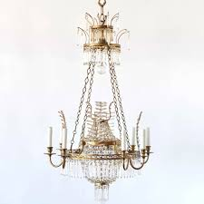 antique crystal chandelier with crystal branches