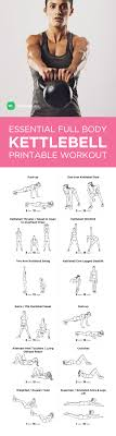 Printable Kettlebell Workout Chart Beginner Workout For Men Workout Routines