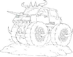 Coloring Pages Monster Truck Batman Monster Truck Coloring Pages