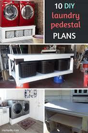 10 super sy diy laundry pedestals free plans