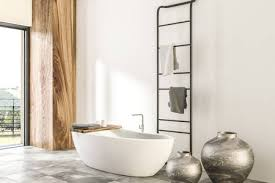 Bathroom Window Interesting White And Wood Wall Bathroom Interior With Tiled Floor Panoramic