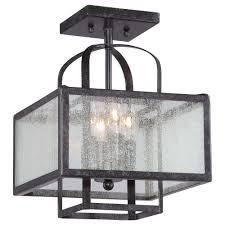 minka lavery camden square 4 light aged charcoal semi flush mount light