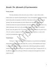 drosophila genetics lab report purpose what did we want to do  1 pages drosophila genetics lab report 5
