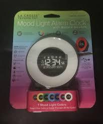 mood light alarm clock with nature sounds