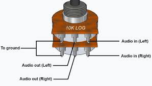 audio volume control potentiometer diagram wiring get image wiring stereo volume pot google search electronics