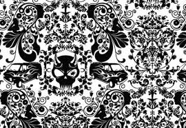 black and white wallpaper pattern. With Black And White Wallpaper Pattern