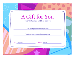 Word Gift Card Template Birthday Gift Certificate Template Word 2010 02 Birthday