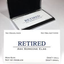 funny retirement gift retired business cards