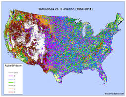 Elevation Chart Us Tornadoes Dont Happen In Mountains Or Do They Debunking
