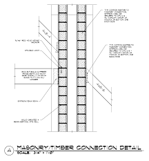 masonry fireplace chimney timber frame connection detail