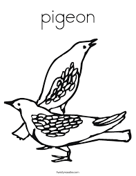 Small Picture pigeon Coloring Page Twisty Noodle