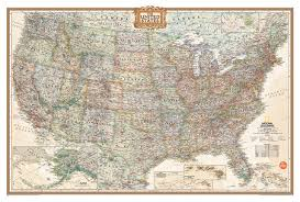 national geographic usa map wall decal