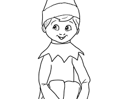 Coloring Pages Elf Shelf Coloringges On The Beautiful These Free