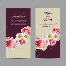Beautiful Wedding Invitation Card Design Set Of Wedding Invitation Cards Design Stock Vector