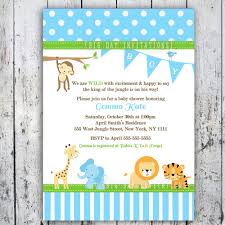 Free Baby Shower Invitations Printable Inspirational Free Printable Jungle Baby Shower Invitations Free