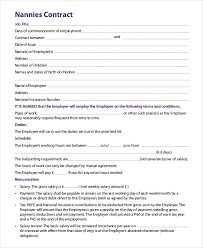 69 Info Example Nanny Agreement Pdf Doc Download