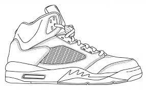 Small Picture Shoes Coloring Pages Jordan Shoes Colouring Pages Jordan Shoe