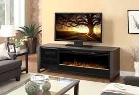 dimplex howden electric fireplace and media console with blf50 glass ember bed
