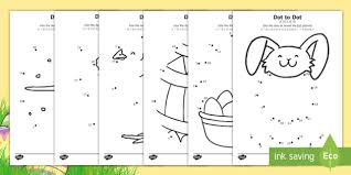 Easter Dot To Dot Worksheet Worksheets Englishmandarin Chinese Eyfs