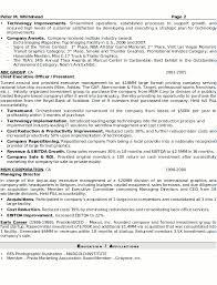 Senior Executive Resume Template Resume Sample 8 Senior Executive