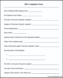 Hr Complaint Form Template - Kleo.beachfix.co