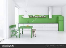 Weißen Esszimmer Und Küche Mit Loft Fenster Einen Grünen
