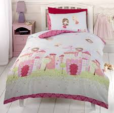 Princess Castle Bedroom Girls Pink Fairy Castle Fairy Tale Princess Single Duvet Cover