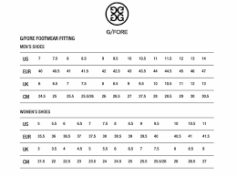 G Fore Size Chart G Fore Gallivanter Patriot Golf Shoes Trendygolfusa Com