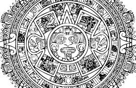 Small Picture Aztec Calendar Coloring Page Printable